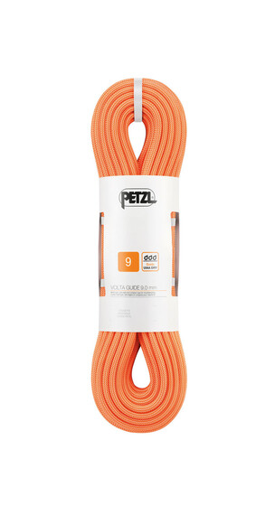 Petzl Volta Guide Seil 9,0 mm x 50 m Orange
